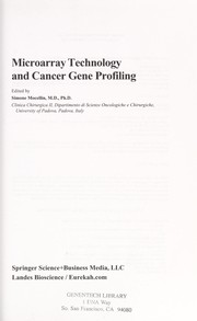 Cover of: Microarray technology and cancer gene profiling |