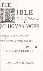 Cover of: The Bible in the works of Thomas More