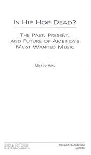 Cover of: Is hip-hop dead? | Mickey Hess