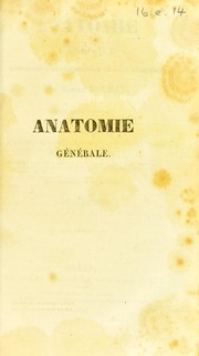Cover of: Anatomie g©♭n©♭rale