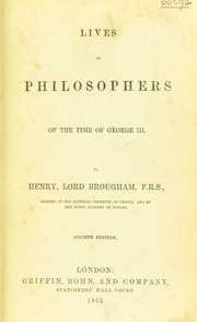 Cover of: Lives of philosophers of the time of George III
