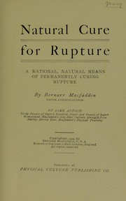 Cover of: Natural cure for rupture