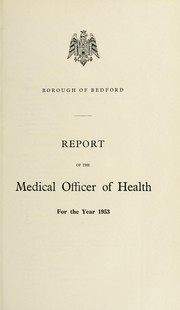 Cover of: [Report 1953] | Bedford (England). Borough Council. nb2005009221