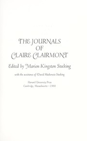 Cover of: The journals of Claire Clairmont
