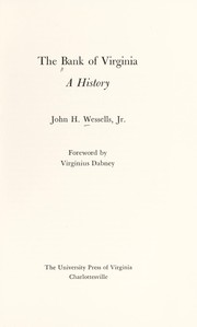 Cover of: The Bank of Virginia: a history