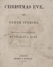 Cover of: Christmas eve, and other stories | Charles A. Dana
