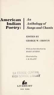 Cover of: American Indian poetry