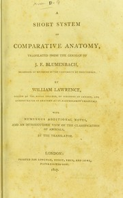 Cover of: A short system of comparative anatomy