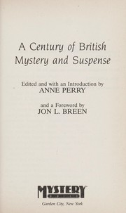 Cover of: A Century of British Mystery and Suspense