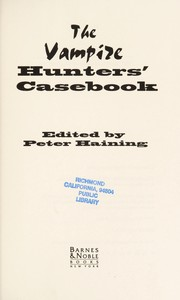 Cover of: The Vampire Hunter's Casebook