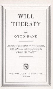 Cover of: Will therapy