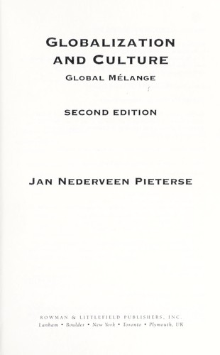 Globalization and culture : global mélange by