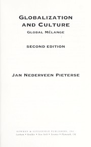 Cover of: Globalization and culture : global mélange |