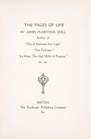Cover of: The pages of life | John McArthur Will