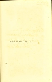 Cover of: Dinners of the day | Praga, Charles Mrs