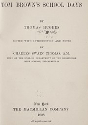 Cover of: Tom Brown's school days