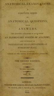 Cover of: Anatomical examinations | University of Glasgow. Library