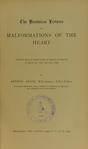Cover of: The Hunterian lectures on malformations of the heart