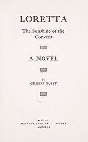 Cover of: Loretta, the sunshine of the convent