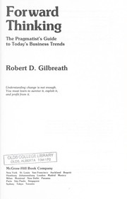 Cover of: Forward thinking | Robert D. Gilbreath