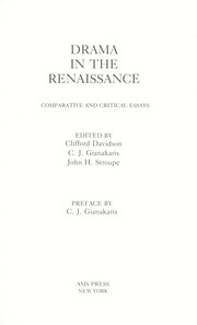 renaissance drama essay This paper will answer the question, in what ways, and to what ends, does renaissance drama represent and explore the diversity of human sexuality.
