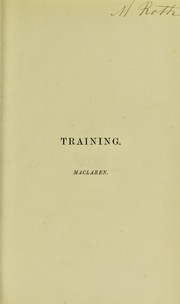 Cover of: Training, in theory and practice | Archibald McLaren
