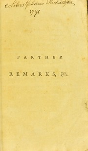 Cover of: Farther remarks on the useless state of the lower limbs, in consequence of a curvature of the spine