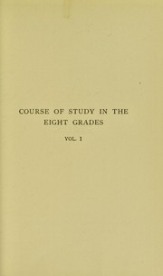 Cover of: A course of study in the eight grades ..
