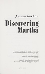 Cover of: Discovering Martha