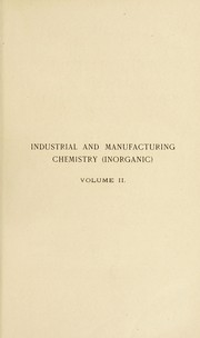 Cover of: Industrial and manufacturing chemistry