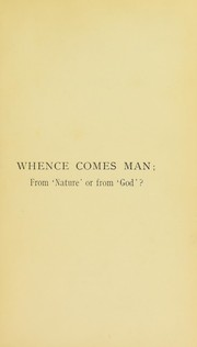 Cover of: Whence comes man