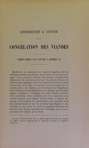Cover of: Contribution a l
