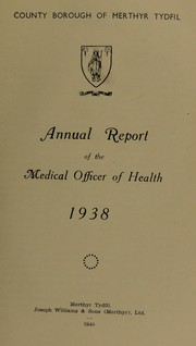 Cover of: [Report 1938] | Merthyr Tydfil (Wales : County). Borough Council