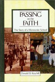 Cover of: Passing on the faith