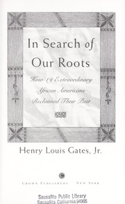 Cover of: In search of our roots | Henry Louis Gates