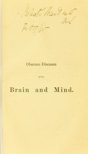 Cover of: Obscure diseases of the brain and mind