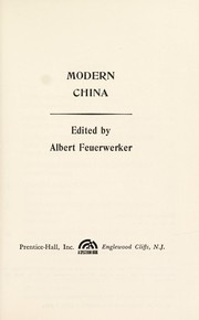 Cover of: Modern China. | Albert Feuerwerker