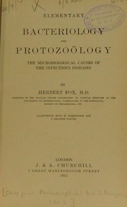Cover of: Elementary bacteriology and protozo©œlogy | Fox, Herbert