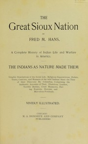 Cover of: The great Sioux nation