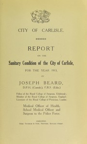 Cover of: [Report 1913]