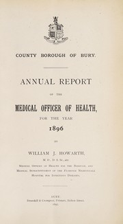 Cover of: [Report 1896]