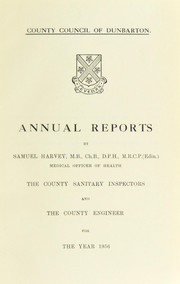 Cover of: [Report 1956] | Dumbartonshire (Scotland). County Council