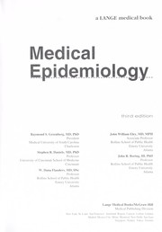 Cover of: Medical epidemiology | Raymond S. Greenberg... [et al.].
