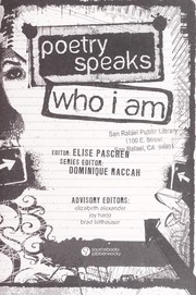 Cover of: Poetry speaks who I am | Elise Paschen