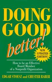 Cover of: Doing good better!