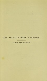 Cover of: The alkali-makers handbook