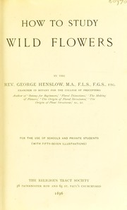 Cover of: How to study wild flowers