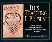 Cover of: This Teaching I Present
