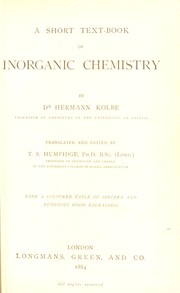 Cover of: A short text-book of inorganic chemistry