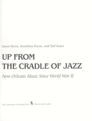 Cover of: Up from the cradle of jazz | Jason Berry